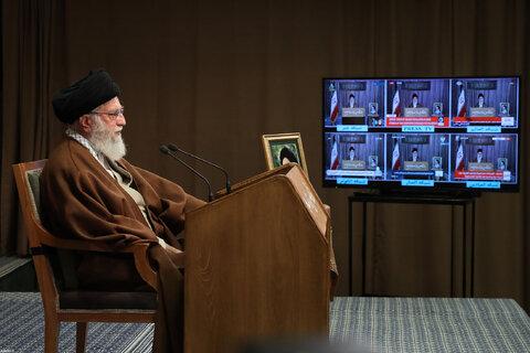 تصاویر سخنرانی تلویزیونی به مناسبت روز جهانی قدس