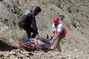 سقوط یک کوهنورد در ارتفاعات دهدشت