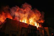 تصویر | مجتمع تجاری زیتون در آتش