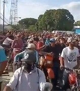 فیلم | باورکردنی نیست؛ صف منتظران بنزین در ونزوئلا