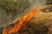 بالگردهای آبپاش سپاه بر فراز کوه خامی گچساران | آتشسوزی ادامه دارد