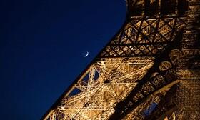 عکس روز| هلال ماه شوال در کنار ایفل