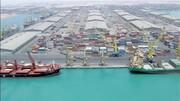 پهلوگیری سومین کشتی گندم از هند در بندر چابهار