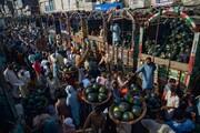 عکس روز | بازار هندوانه پس از قرنطینه