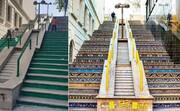 عکس | چه کسی خودسرانه پلههای قشنگ خیابان ولیعصر را رنگ زد؟ | واکنش شهرداری