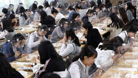 صرف ناهار دانش آموزان بعد از بازگشايي مدارس در كره جنوبي