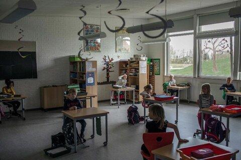 كلاسي از يك مدرسه ابتدايي در دانمارك