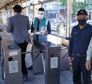نظارت یگان حفاظت شهرداری بر اجرای طرح استفاده از ماسک در ناوگان اتوبوسرانی