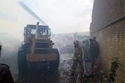 کارخانه تولید کاغذ در آتش سوخت