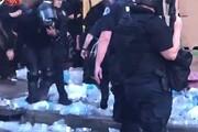 فیلم | آمریکا؛ وقتی پلیس به آب هم رحم نمیکند