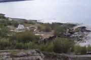 فیلم | تصاویر لحظات رانش زمین در نروژ