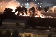فیلم | آتشسوزی محوطه سبز دریاچه خلیج فارس