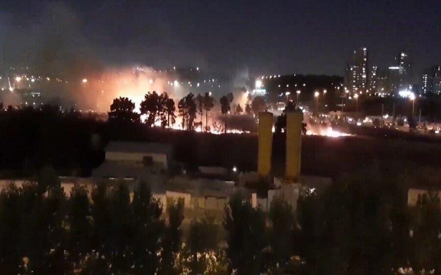 آتشسوزي در حوالي چيتگر