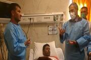 عیادت از کوهنورد فداکار در بیمارستان یاسوج