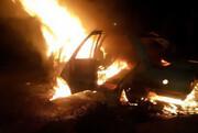 واژگونی و حریق پراید در همدان ۲ کشته و سه مجروح بر جا گذاشت