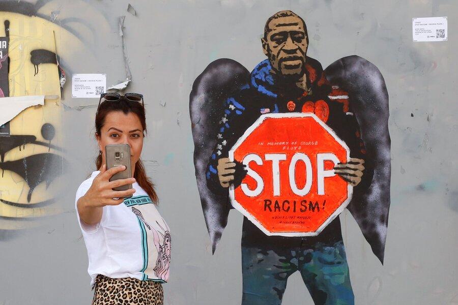 نقاشی دیواری جرج فلوید