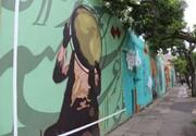 خیابانهای اصلی سنندج با مضامین موسیقایی دیوارنگاری شد