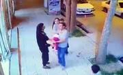 فیلم | لحظه عجیب نجات یک دختر بچه از حادثه دلخراش در سمیرم