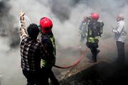 فیلم | ۷ فروند لنج در بندر کنگ در آتش سوختند