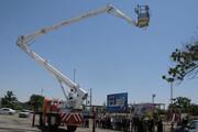 تجهیز آتشنشانی گنبدکاووس به بالابر ۲۸ متری اطفای حریق