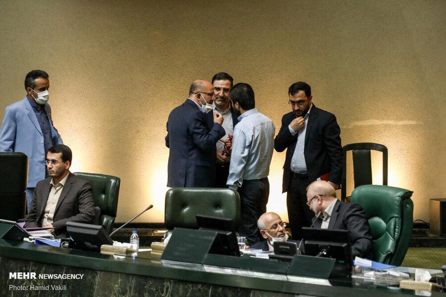 مجلس - كرونا - فاصله اجتماعي - جلسه علني 25 خرداد