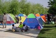 چادرخوابی مسافران در ییلاقها | سطح اشغال ۱۵ درصدی هتلها