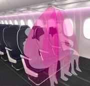 محافظ نامرئی هواپیما برای دوری از کروناویروس