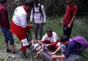 نجات مرد عشایر کوهرنگی توسط امدادگران هلال احمر