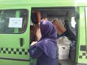 همدلی با خانواده های کودکان کار | توزیع بسته های غذایی و بهداشتی میان ساکنان کوره پزی