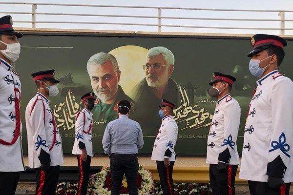 دیوارنگاره شهید سلیمانی در بغداد