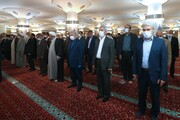تصاویر اقامه نماز آیات در مجلس | نمایندگان فاصله اجتماعی را رعایت کردند؟