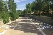 ایجاد مسیر دوچرخهسواری در بوستان سایه اصفهان