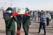 پیکر پاک شهید افغانستانی دفاع مقدس وارد مشهد شد