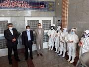 بازدید شهردار تهران از خط مقدم مبارزه با کرونا در بهشت زهرا(س)
