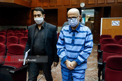 تصاویر هفتمین  دادگاه  اکبر طبری و متهمان دیگر