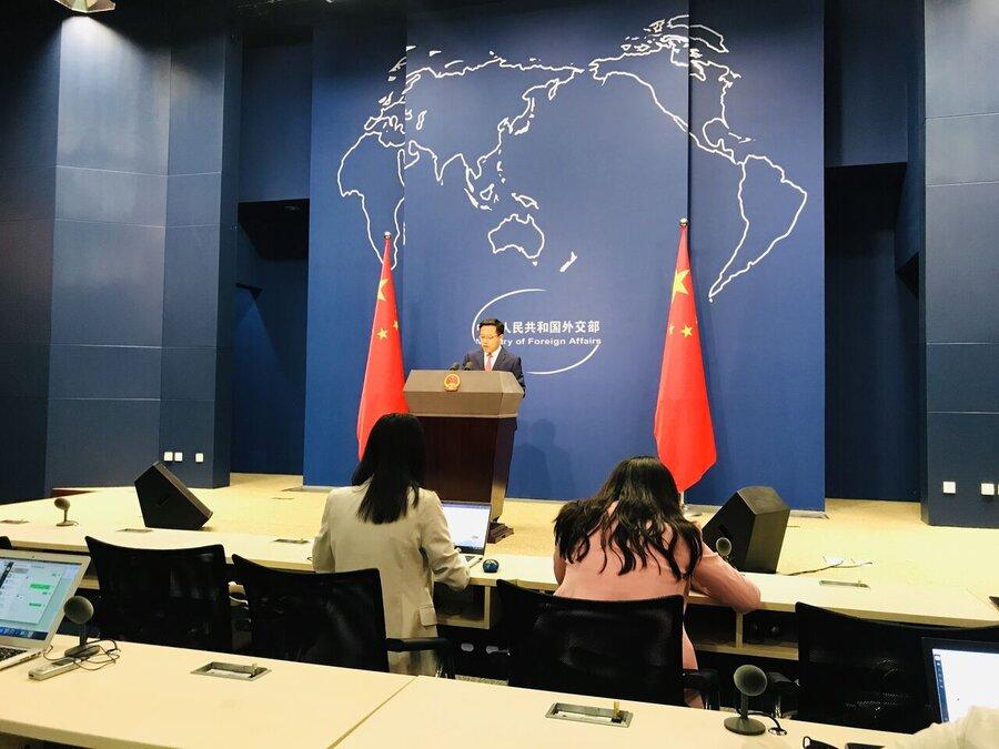 جائو لی جیان سخنگوی وزارت امور خارجه چین