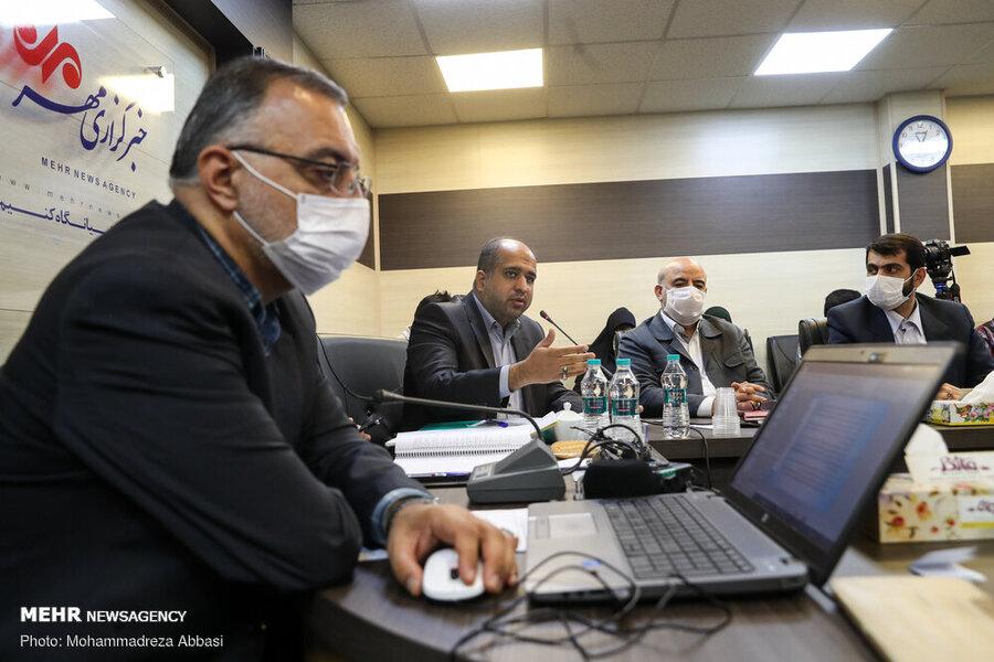 نشست خبری زاکانی در مورد تاجگردون