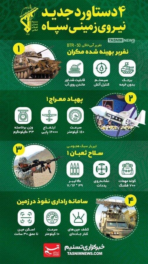 ۴ دستاورد جدید نیروی زمینی سپاه