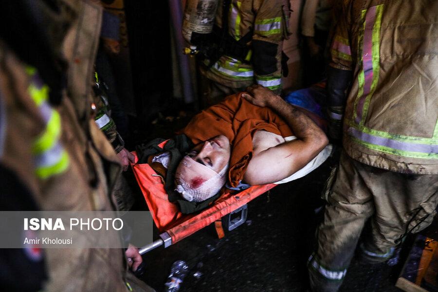 انفجار و آتش سوزی در يك مرکز درمانی در تجریش