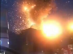 تصاویر میزان خسارت وارد شده به خانههای روبروی کلینیک سینا اطهر