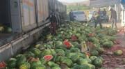 تصاویر درناک؛ معنای امحای ۷ هزار تن هندوانه صادراتی چیست؟ | نابودی ۳درصد از آب سد لتیان در مرز ترکیه