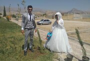 عکس | کاشت نهال به جای برگزاری جشن عروسی در شرایط کرونا