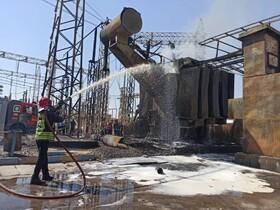 نخستین تصاویر مهار آتش در نیروگاه زرگان اهواز | اعلام علت حادثه | واکنش به خبر آتشسوزی در پتروشیمی شهیدتندگویان