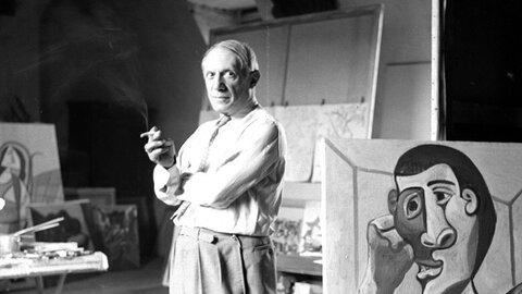 پرتره سیاهقلم که پیکاسو از عشق پنهان خود کشید | تابلوی ۹میلیون پوندی