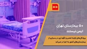همشهری TV | پنجاه بیمارستان تهران ایمن نیستند