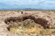 تصاویر | نشست زمین در دشت نیشابور