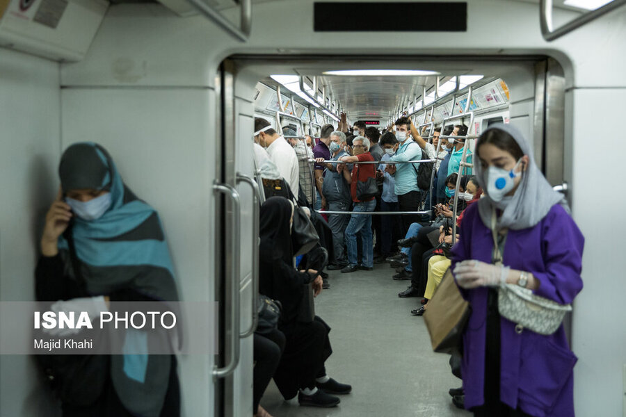 مترو در روزهاي ماسك اجباري