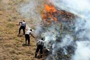 تصاویر | آتشسوزی مراتع در سنندج