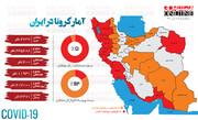 اینفوگرافیک | وضعیت استانها در مرگبارترین روز کرونایی ایران
