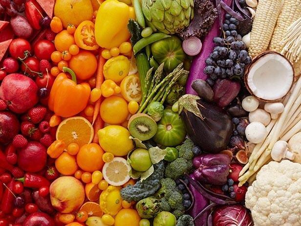 مواد غذایی رنگارنگ